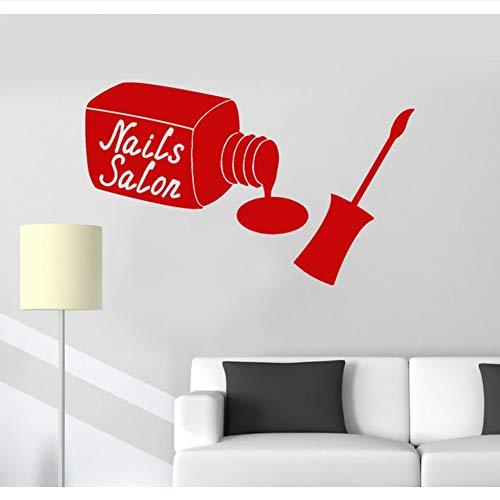 Waofe adesivi murali in vinile per manicure manicure bellezza adesivi per donna salon salon girl murale carta da parati impermeabile design poster fai da te 57 * 89cm