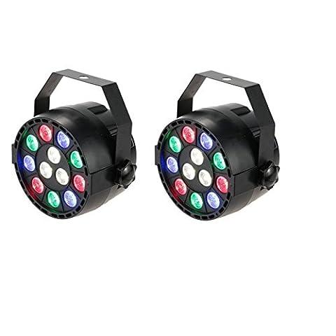 2x xinban 15W 512AC100–240V RGBW DMX LED effet de lumière disco DJ éclairage 8canaux courant alternatif