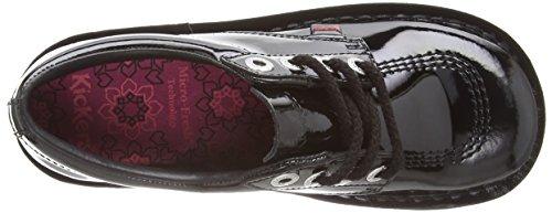 Kickers  Kick Lo Stack Patl Af, Chaussures de ville à lacets pour femme Noir - Noir