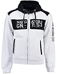 Geographical Norway - Sweat à capuche Enfant Geographical Norway Glapping Blanc