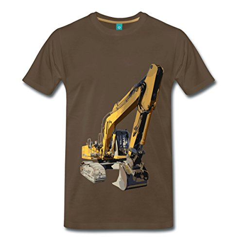 bagger-manner-premium-t-shirt-von-spreadshirtr-l-edelbraun