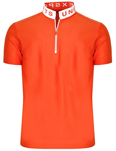 BCPOLO Zip Poloshirt M?nner China-Kragen T-Shirt DRI FIT Kurzarm Polo Shirt Orange