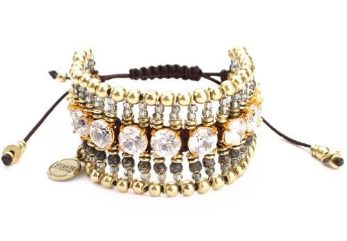 Exoal Armband High Society Crystal/Gold