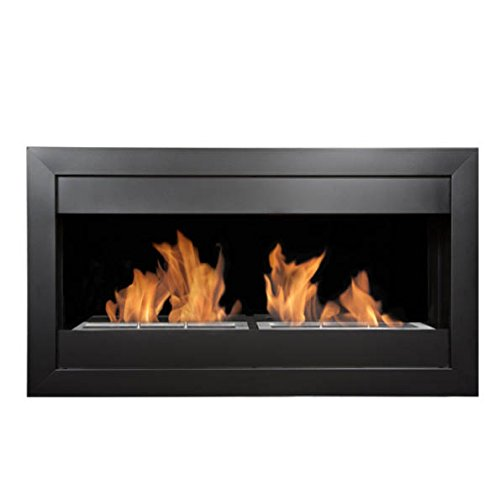 Fireplace Bio Ethanol 2 Burner Square Large Black Bio-Blaze