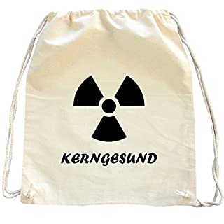 Mister Merchandise Drawstring Bag Backpack Kerngesund AKW , Color: Natural