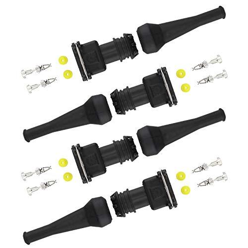 Einspritzventil Stecker EV1 Injektor Verdrahtung Wasserdichte Stecker EV1 Steckverbinder EV1 Verdrahtungsanschlüsse