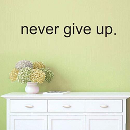 (Dalxsh Nützlicher heißer Verkauf geben Sie nie auf englische Wörter Motto-Wandaufkleber-Zitat für Schlafzimmer Wohnzimmer-Wand-P)