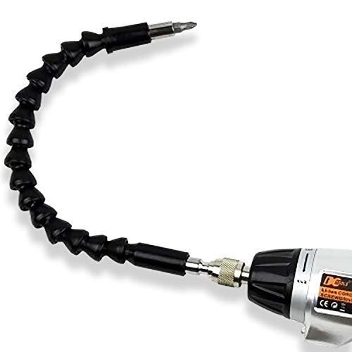 CZ Store-Eje flexible-GARANTÍA DE POR VIDA-Destornillador eléctrico de eje flexible taladro y destornillador: eje cardán 360°, magnético de 295 mm con punta de mandril para ángulo de 90° y más