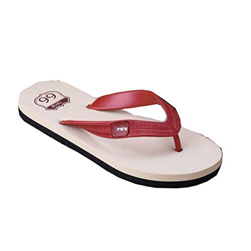 De Verão Sapatos Ocasional Antiderrapantes Fracassos Simples Aleta Estilo Homens Praia Chinelos Dos Vermelhos Sandálias Linyuan wIaSOWvPq