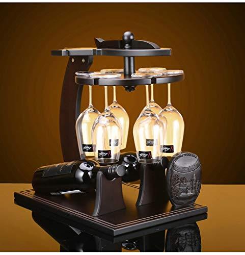 ein Rack Weinregal Upside Down Glasständer Holz Getränkehalter Dekoration Shop/Home/Bar (Größe: M) (Farbe : -, Größe : Small) ()