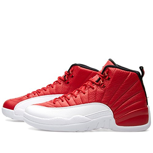 Nike Air Jordan 12 Retro, Chaussures de Sport-Basketball Homme gym red, white-black