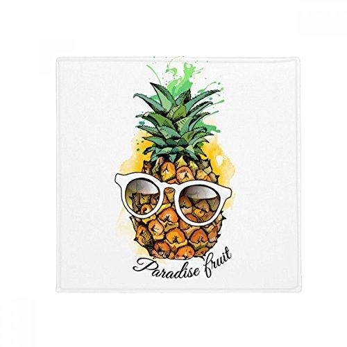 DIYthinker Sonnenbrille Ananas Tropical Fruit Anti-Rutsch Boden Pet Matte quadratisch Badezimmer Wohnzimmer Küche Tür 60/50cm Geschenk, Gesponnenes Polyester, mehrfarbig, 60X60cm