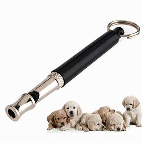 zhengming2 Ultraschall-Hundepfeife aus Metall, verstellbar, geräuschlos, 80 mm