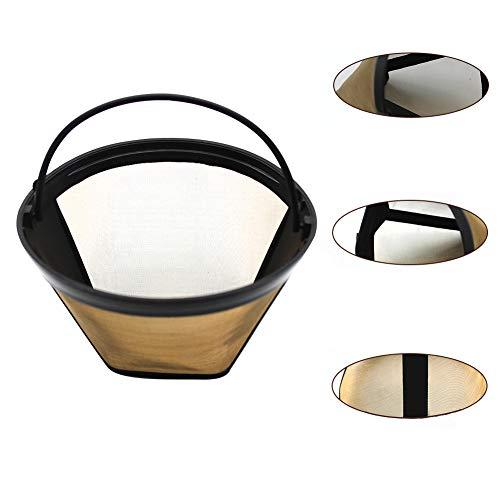DKEyinx Edelstahl wiederverwendbare kegelförmige Kaffeefilter-Sieb-Küchenzubehör