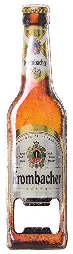Krombacher Flaschenöffner Pils Flasche Design mit Magnet Bier Theke Tresen Bar Party Keller Deko Accessoire