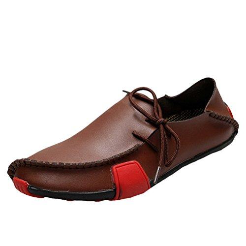 Vogstyle Uomo Primavera/Autunno Comfort Pelle Scarpe Traspirante Loafers Mocassini Casual Stile 1-Marrone