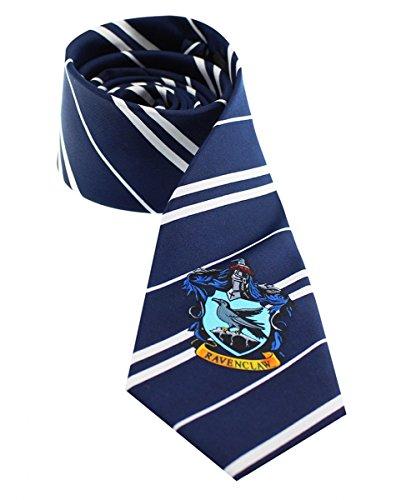 Harry Potter Ravenclaw Krawatte mit Hauswappen (Luna Potter Harry Kostüm)