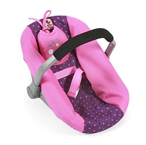 Bayer Chic 2000 708 40 - Puppen-Autositz, Dots Lila/Rosa