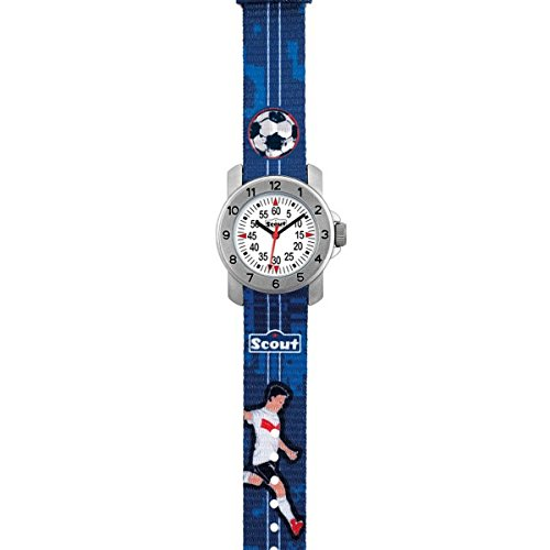 SCOUT Jungen Analog Quarz Uhr mit Stoff Armband 280376004 - 2