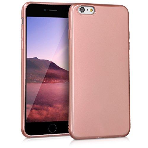 kwmobile Apple iPhone 6 Plus / 6S Plus Hülle - Handyhülle für Apple iPhone 6 Plus / 6S Plus - Handy Case in Hochglanz Rosegold - 6 Plus Zubehör