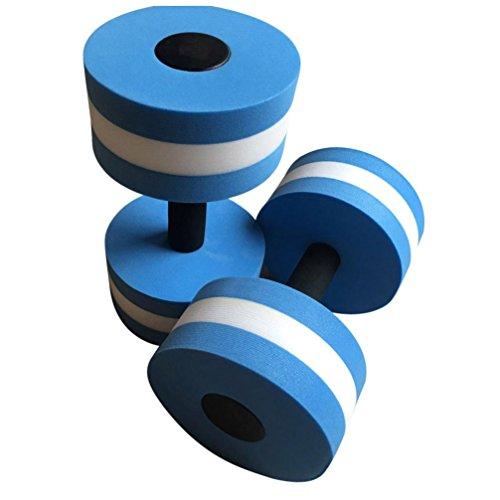 Gusspower Aqua Hanteln, 1 Paar Schaumstoff Hantel für Wasser-Fitness, Widerstand Schwimmen Gewichte Übung (Blau)