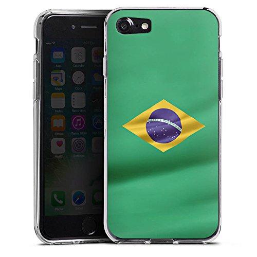Apple iPhone X Silikon Hülle Case Schutzhülle Brasilien Flagge Brasil Silikon Case transparent