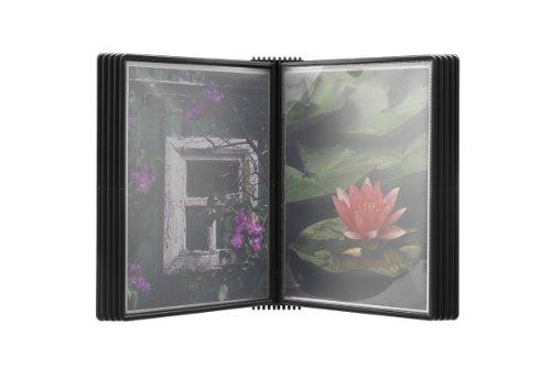 Jalema 7968219 Flex-o-Frame pared Elemento Premium, incluyendo 10 bolsillos, incluidas las tablillas clic, negro