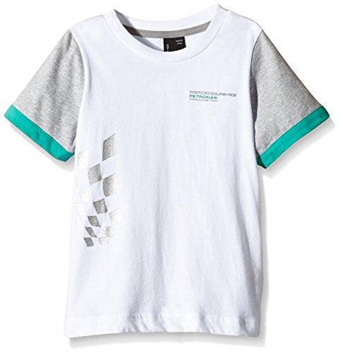 mercedes-amg-petronas-6000022-200-472-camiseta-con-escudo-color-blanco-talla-xxs