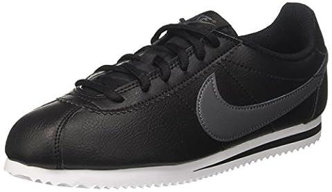 Nike Kinder und Jugendliche Cortez Gs Laufschuhe, Schwarz (Black/Dark Grey/White), 39 EU