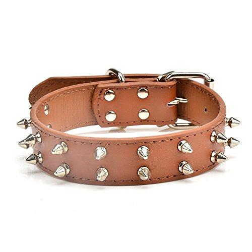 Dogs Kingdom 50,8–55,9cm groß Spikes Leder Halsbänder Nieten Hundehalsband Pink