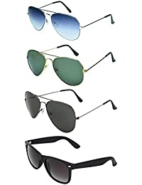 Zyaden COMBO Of 3 Aviator Sunglasses & 1 Wayfarer Sunglasses(Combo-357)