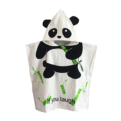 Woneart Baby Kapuzenhandtuch Strandtuch Badetücher Jungen Mädchen Bademantel mit Kapuze Morgenmantel Baumwolle Tiere Robe Mantel Poncho (Panda)