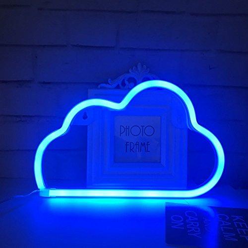 QiaoFei Cute Blue Neon Light, LED Schild Cloud Form Decor Licht, Festzelt Schilder/Wanddekoration für Chistmas, Geburtstag, Kinder, Wohnzimmer, Hochzeit Party Decor (blau) (Home Decor Light Blue)