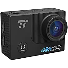 "Action Cam 4K TaoTronics Action Camera WIFI 1080P Full HD 2.0"" Schermo LCD, 16MP 170° Grandangolare con Custodia Impermeabile IPX8 fino a 30m / 100 ft, Kit Accessori per Ciclismo Nuoto e altri Sport Esterni"