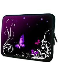 EOZY 1Pc Sacoche Tablette Housse En Néoprène Résistant Notebook IPad Apple Papillon Fleur