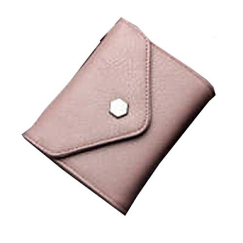 WU Zhi Lady In Pelle La Posizione Multi-card Borsa Portafoglio Pacchetto Di Carta Pink
