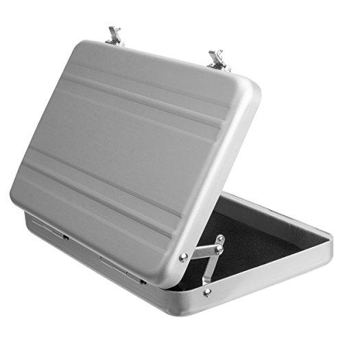 Woodmin Luftfahrt-Aluminium Mini-Koffer Geschäft / Kreditkarte / Namenskartenhalter Box, Silvela