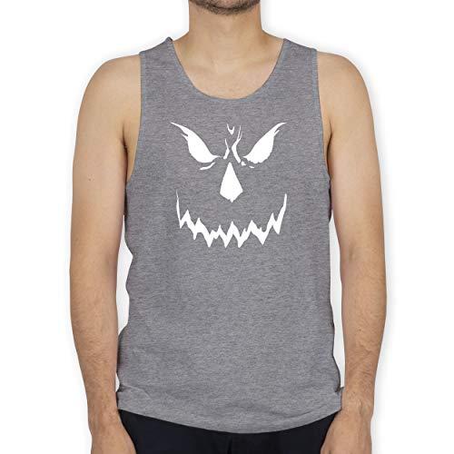 Shirtracer Halloween - Scary Smile Halloween Kostüm - S - Grau meliert - BCTM072 - Tanktop Herren und Tank-Top Männer
