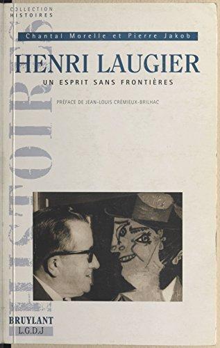 En ligne Henri Laugier, un esprit sans frontière pdf