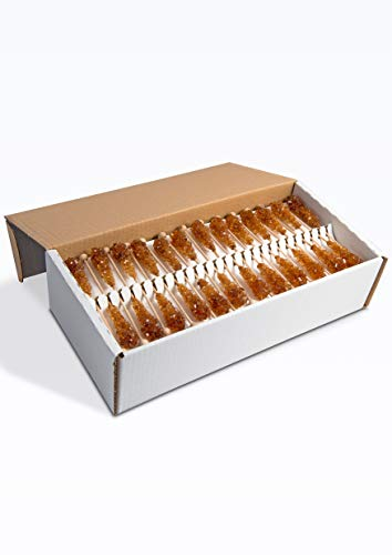 Kandiszucker Sticks | braun einzeln | 100 Stk im Karton | Kandis-Sticks Teekandis Zuckersticks