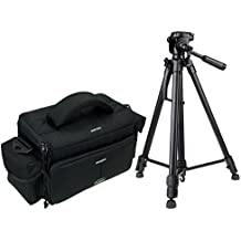 Cámara fotográfica Action M Set con trípode con funda para Canon EOS 1300d 1200d 760d 750d 700d 80d Nikon D7200D610D500D5500D5300D3300D3200