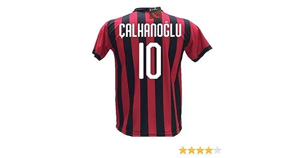 Calhanoglu Adulto Maglia Calcio Milan /Çalhanoğlu Replica Autorizzata 2018-2019 Bambino S M L XL Taglie 2 4 6 8 10 12