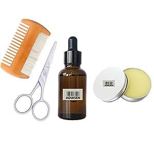 ADIASEN 30ml Bartöl und 30g Bartcreme, Kamm-Zubehör-Sets reisen für Männer