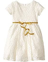 Us Angels Little Girls' Lace Cap Sleeve