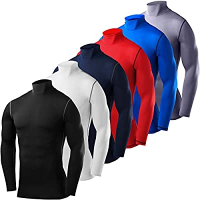 PowerLayer Herren Kind Funktionsunterwäsche Kompressionsshirt Armour Compression Top Skins Langarm