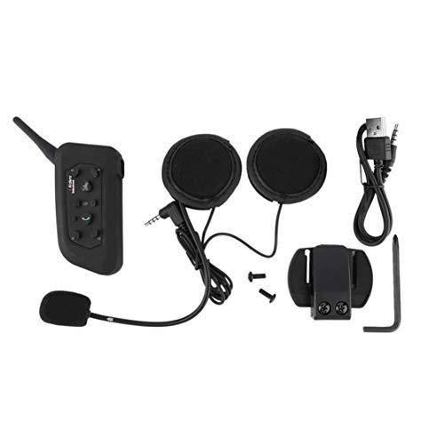 LouiseEvel215 3.5mm BT Casco del Motociclo Interphone Headset per Cuffie 6 Riders 1200M Interphone Pratico Interpho