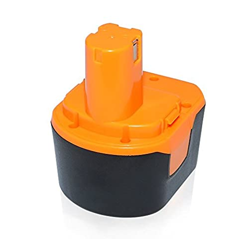 Dtk® Cordless Power Tool Replacement Battery for Ryobi Ryobi 1400652 1400652B 1400670 B-1230H B-1222H B-1220F2 B-1203F2 3.0Ah 12V Ni-Cd