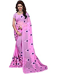 Riva Enterprise women's chiffon embroidred saree