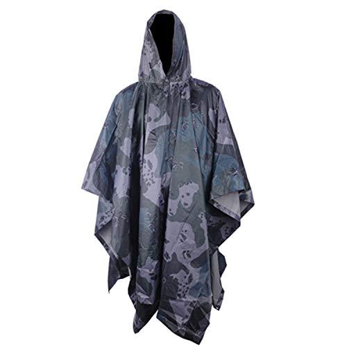 Moligh doll Multifunktionale Milit?rische Kalte Tarnung Regen Mantel wasserdichte Regen Mantel M?nner Und Frauen Camping Angeln Motorrad Markise Us Camo -
