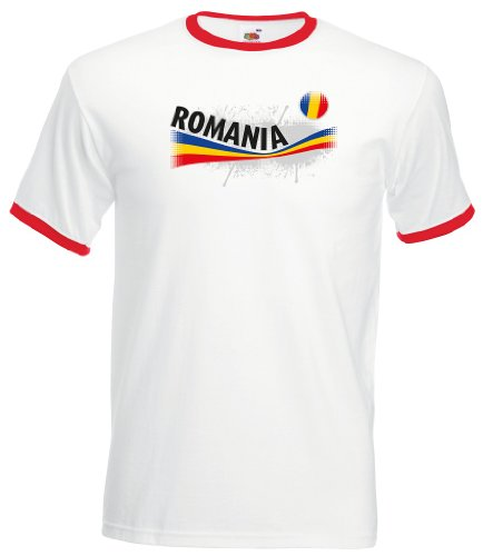 Romania / Rumänien Herren T-Shirt Vintage Retro Trikot|L